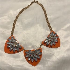 BaubleBar Orange Bib Necklace